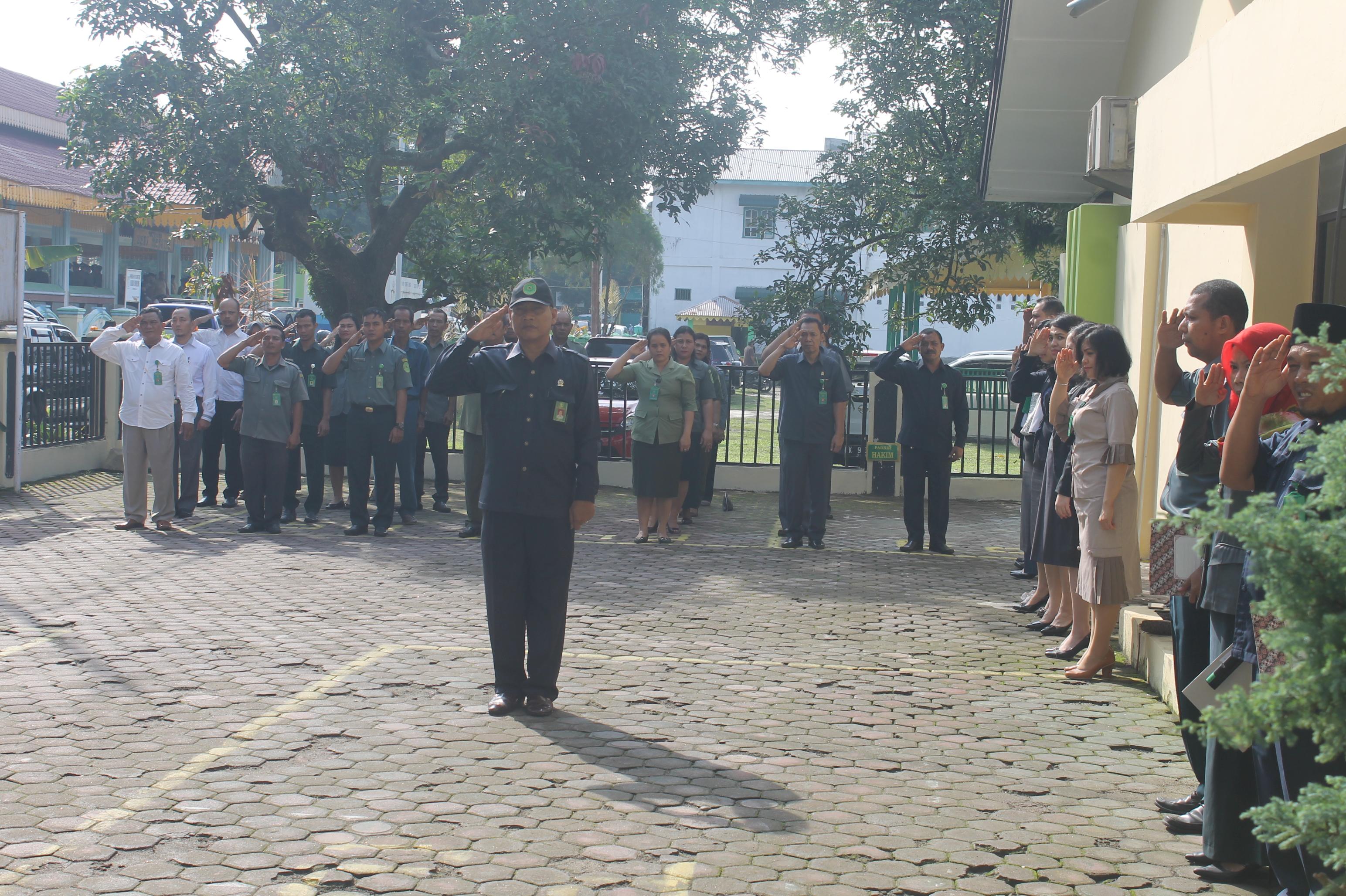 Upacara Dalam Rangka Peringatan Hari Kebangkitan Nasional Ke – 110 Tahun 2018 di Pengadilan Negeri Tebing Tinggi