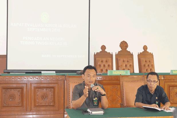 Rapat Bulanan Bulan September 2018 di Pengadilan Negeri Tebing Tinggi