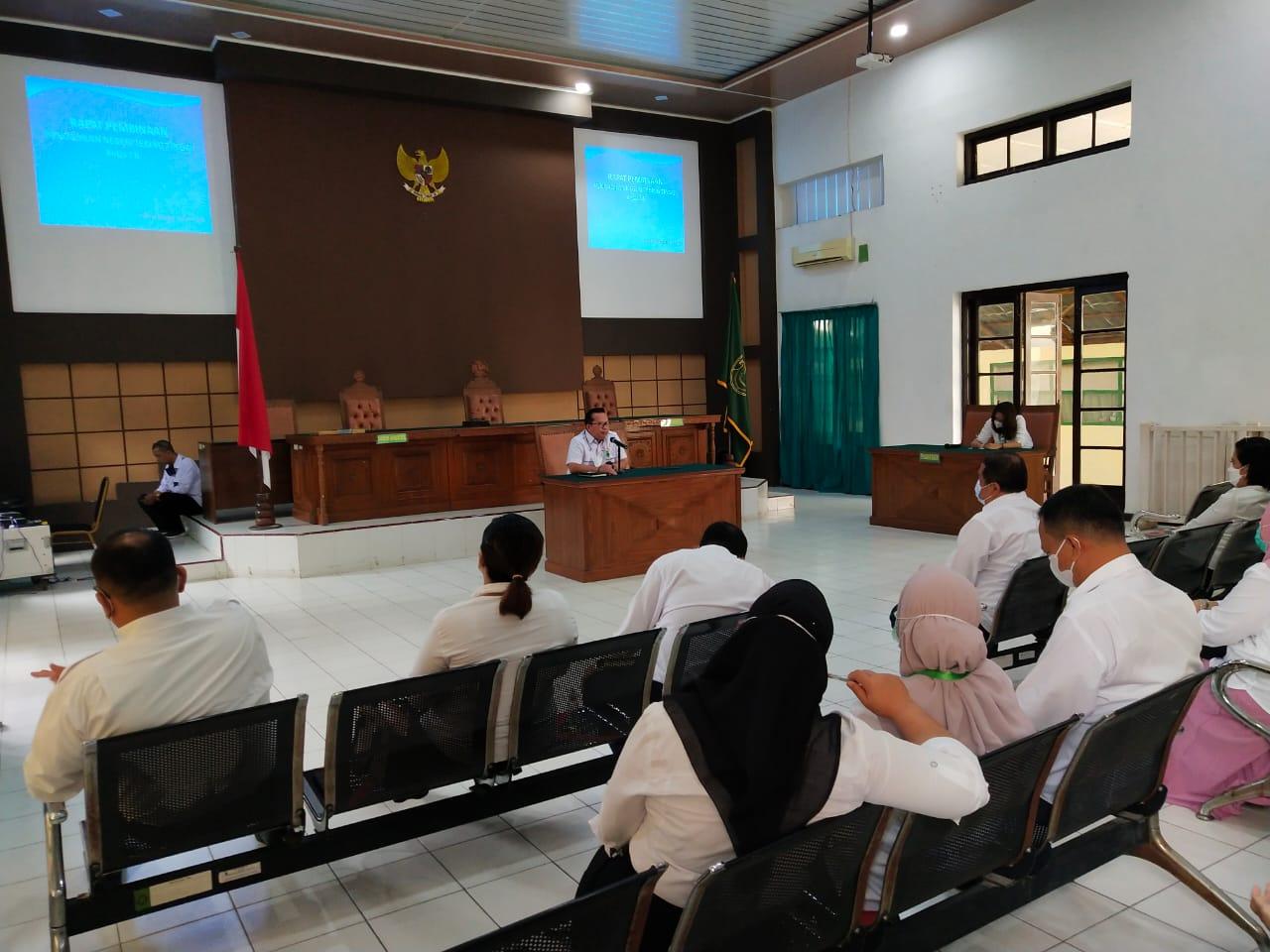 Rapat Pembinaan Pada Pengadilan Negeri Tebing Tinggi Kelas I B
